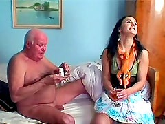 Horny Babe Sucks And Fucks A Very Stiff Senior