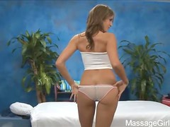 Hot BrunetteKara Price  Gives A Massage As She Wears Sexy Panties
