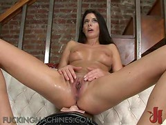 Brunette Milf Tries Out A Wonderful Fucking Machine
