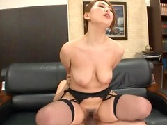 Horny Asian Boss In Lingerie Fucking Her Assistant In The Office
