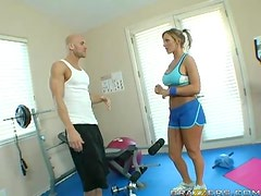 Hardcore Exercise  With The Horny Blonde Nikki Sexx