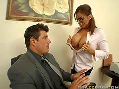 Cock Hungry Brunette Devon Michaels Cheating At Work