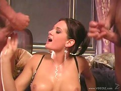 Hot Tory Lane Gets Double Penetrated By A Pair Of Pussy Hungry Guys