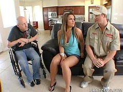 Busty Slut Jordan Jagger Fucking the Cable Guy