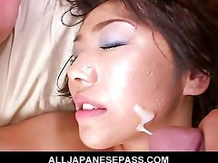Model has her sweet pussy spread by cock