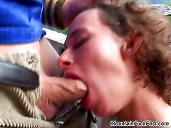 Hard anal fuck in the mountains