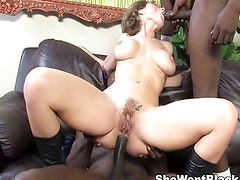 Double Penetrated by 2 Black Cocks
