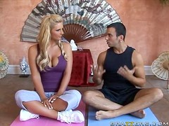 Sinful Blonde Phoenix Marie Is Left To Handle Her Yo Instructor's Big Cock