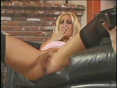 Blonde And Brunette Babes Have Lesbian Action As They Play With Sex Toys