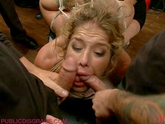 Sinful Milf Just Loves Getting BDSM Gangbanged While She's Drunk