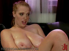 Sexy Redhead Loves To Cum With The Help Of Fucking Machines
