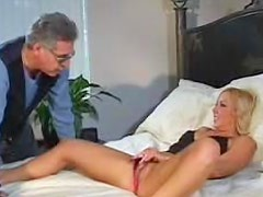 His thick dick stretches her asshole