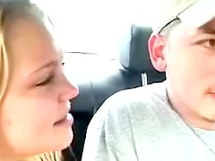 Slutty and hot teen is doing blowjob in the car