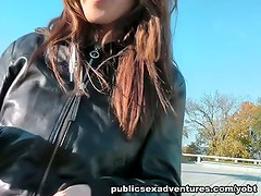 Public make love with hot amateur female
