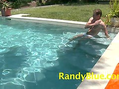 Lance BRyant gets the dip inside tthis boy pool then settles down to the Nice long jerk off off session.