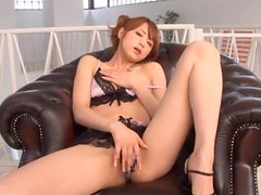 Double Blowjob By a Gorgeous Japanese Chick in Lingerie