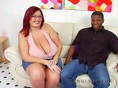 Big Hot Peaches Deep Throats A Black Guy in Sexy Interracial Video