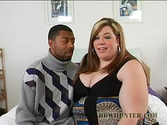Big And Sassy Deserie Gags On A Big Black Cock As Her Pussy Gets Wet