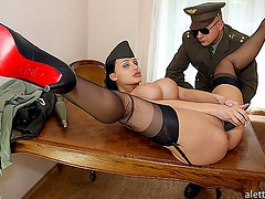 Aletta Ocean in the army fucks a real bomb