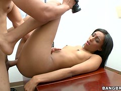 Isabella Has Her Tight Pussy Fucked In An Interview