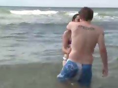 Amateur sexy girl has pussy licked and fingered on beach
