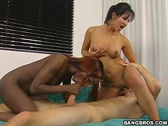 A Very Hot Interracial Threesome With Insatiable Babes