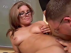 Hot Jackie Moore is having fuck with young doctor in the class
