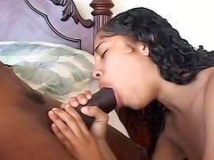 Her young black pussy loves BBC