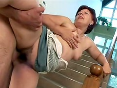 Mature nailed in her wet pussy