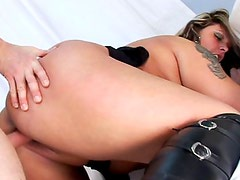 Busty and hot milf Lenka gets naked
