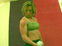 Muscular Summer in green t-shirt is having fuck with her coach