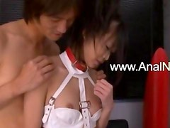 Petite hairy korean girl dildoing snatch