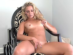 Sexy and admirable Lena Nicole is satisfying her vag in the room