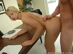 Blonde MILF with Big Tits Brianna Beach Fucking To Protect Her Son