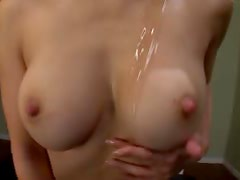 Hot Asian Model Mika Kayama Giving Great Titty Fuck and Blowjob in POV