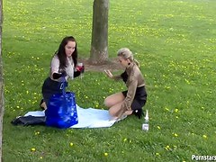 Two Elegant Babes End Up Covered With Food And Booze On WAM Video
