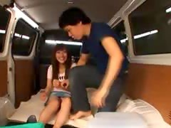 Sex In The Van with Hot And Busty Japanese Doll Kirara Kurokawa