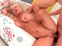 Saggy granny getting pumped by horny younger man