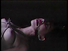 SLut bound and hot wax dropped on genitals