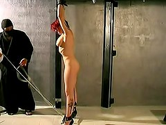 Redhead made flexible in her dungeon