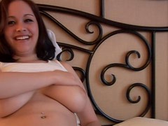 Watch her big natural tits jiggle lustily
