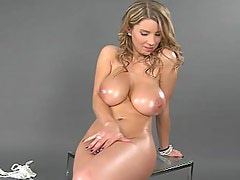 Busty natural titted Katerina masturbating