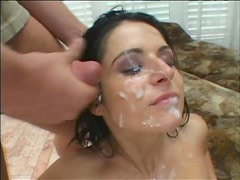 sexy Brunette Gets Double Penetrated While Wearing White Pantyhose