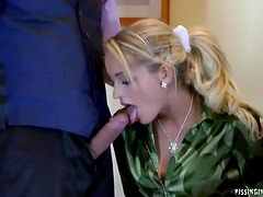 Sassy Babes Have A Great Pissing Orgy While In A Job Interview
