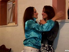 Wet and Messy Lesbians Have Some Outdoor Fun