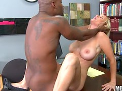 Blonde Milf With Big Tits Has Interracial Sex With A Black Dick