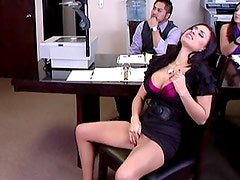 Masturbating during a sales meeting??