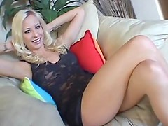 Blue eyed blonde Californian teen Eden