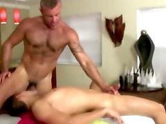 Gay amateur bear sucks on cock