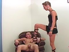Blue eyed girl kicks him in the balls
